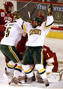 Patrick Cullity celebrates a goal vs. Denver
